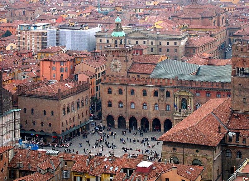 Vista aérea da Universidade de Bolonha