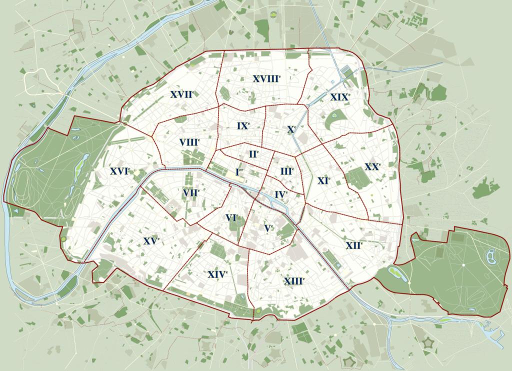 melhores-bairros-para-morar-em-paris-mapa